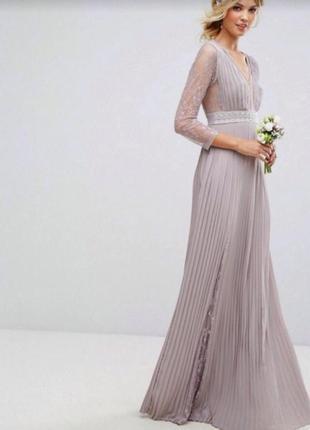 Полная распродажа вечерних платьев!!! нежное вечернее платье макси