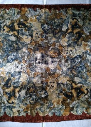 Анималистический принт, фактурный платок 87х87 см.