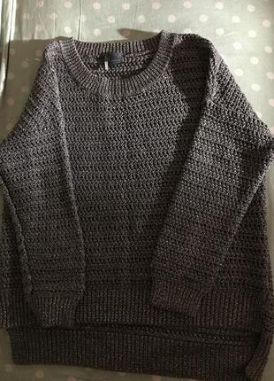 Стильный свитер стального цвета
