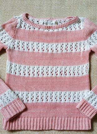 Ажурный свитер для девочки нм