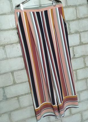 Стильные брюки палаццо в полоску пастельные цвета