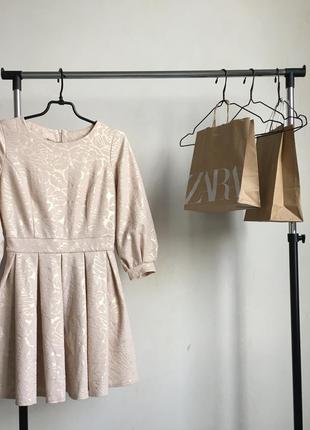 Стильное нарядное вечернее платье в стиле zara