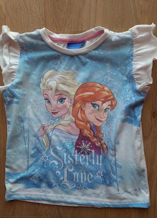 Фирменная футболка для девочки 4-6лет