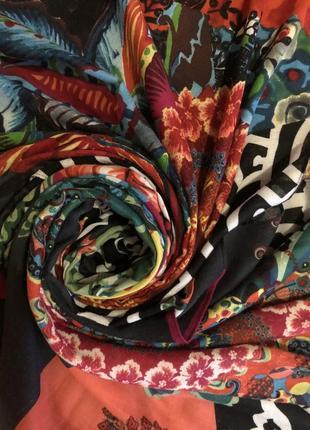 Большой роскошный платок шаль палантин desigual