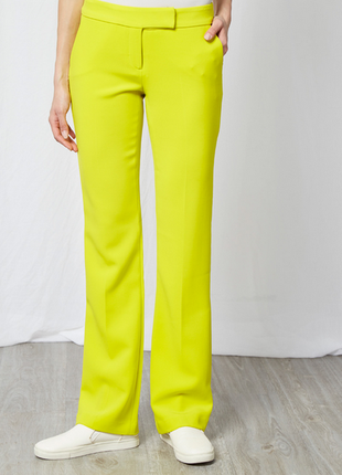 Тренд. неоновые, прямые брюки belair сделаны во франции! неон штаны