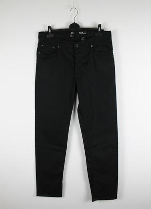 Стильные качественные джинсы h&m slim fit black jeans