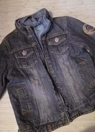 Двухсторонняя джинсовая куртка 3-4 г