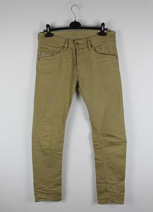 Шикарные оригинальные джинсы diesel 3d evo khaki crumpled slim tapered belther