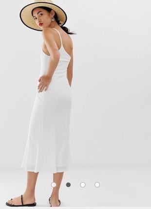 Платье миди на одно плечо lost ink2 фото