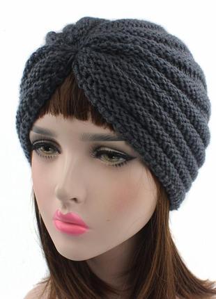 2 модная шапка, чалма/ демисезонная