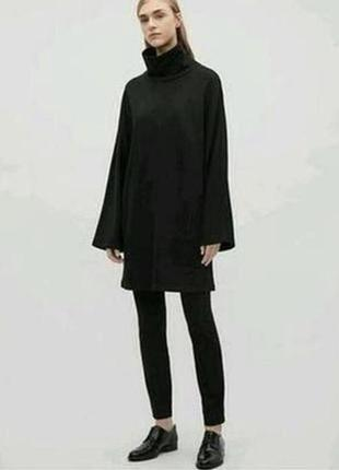 Катоновое  платье-свитшот оверсайз cos
