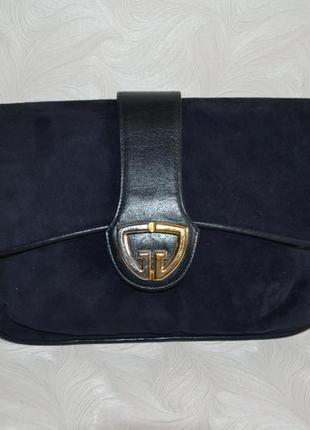 Синяя замшевая сумочка gucci