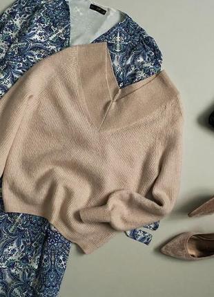 Трендовий пудровий светр з об'ємними рукавами marks & spenser