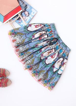 Пышная юбка с фламинго river island • xs-s, можно на s-m (примерно на талию 62-75 см)1