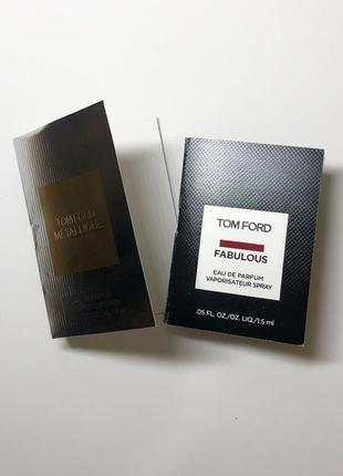 Пробники парфюмерии tom ford.  продажa набором.