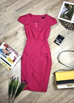 Плотное,стильное миди платье обалденного цвета с рюшами 💕