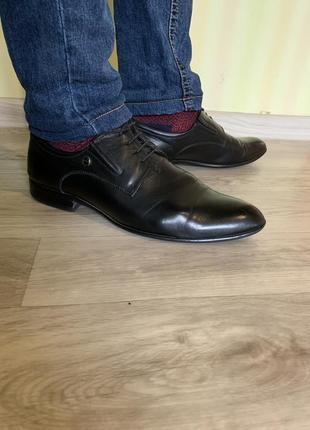 Мужские туфли кожаные basconi