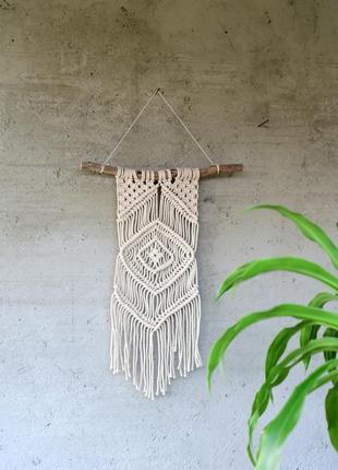 Пано макраме, декор для стен, панно из хлопкового шнура