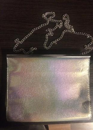 New look сумка клатч голографическая хамелеон