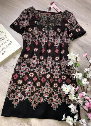 Шикарное короткое платье 100% шёлк, нарядное короткое платье, платье натуральный шелк,
