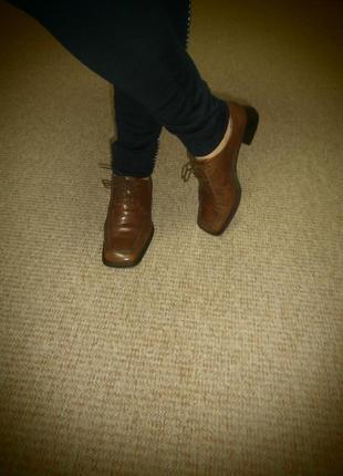 Шок цена/ботинки из натуральной кожи 100 грн