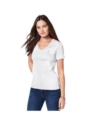 Оригинальная серая футболка tommy hilfiger. размер л