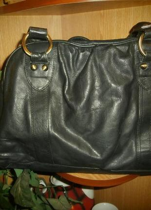 Шок цена большая сумка за 100 грн/100%нат.кожа/формат а4