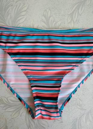 Р 18 / 52-54 плавки низ от / для купальника бикини в разноцветную полоску pep&co