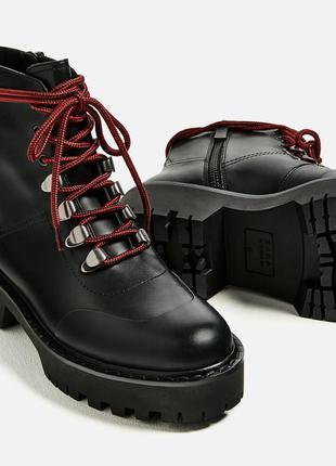 Кожанные  ботинки zara1