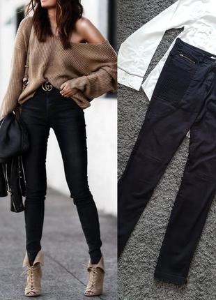 Стильные, черные джинсы-скинни🔥