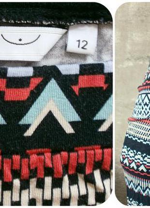 Вискозная макси-юбка по фигуре в красочный орнамент2