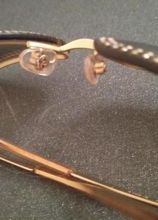 Солнцезащитные очки chanel  оригинальные. украшены камнями swarovski.3 фото