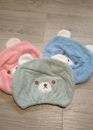Детская шапочка- полотенце для сушки волос.