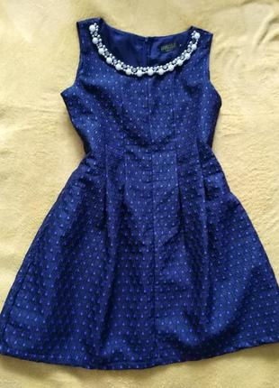 Нарядное платьице с вышивкой.