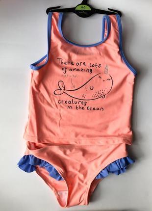 Купальник с китом для девочки