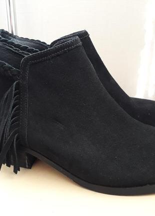 39 p. замшевые  демисезонные ботинки john lewis
