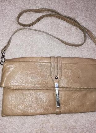 Натуральная кожа италия сумка клатч