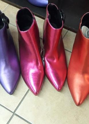 """Шикарные ботильоны / ботинки на маленьком каблуке фирмы """"reserved""""."""