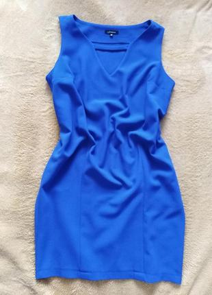Синее платье мини