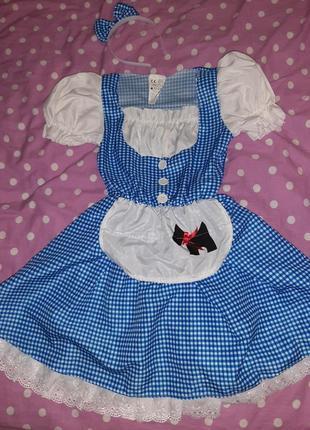 Карнавальное платье алиса в стране чудес 7-9 лет.