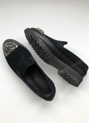 Туфли лоферы натуральный замш estro