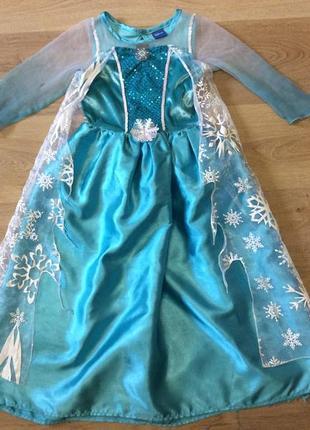 Карнавальное платье эльзы дисней 6-7 лет