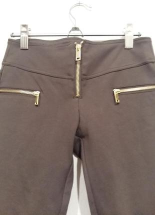Стильные коричневые брюки лосины tally weijl2