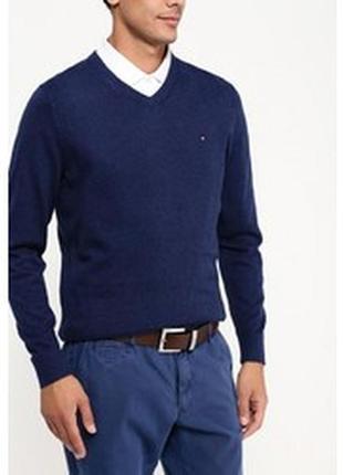 Красивый темно синий свитер tommy hilfiger p.xl