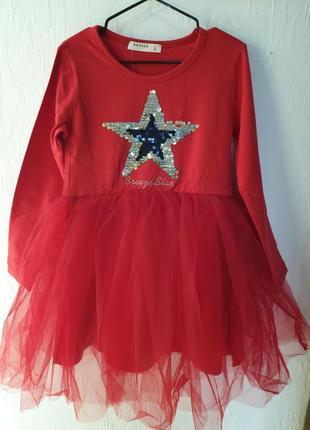 Нарядное платье на девочку фирмы breeze