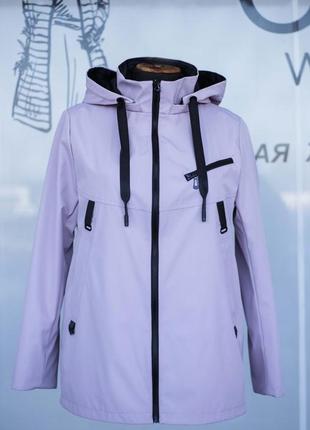 Женская легкая курточка ветровка больших размеров