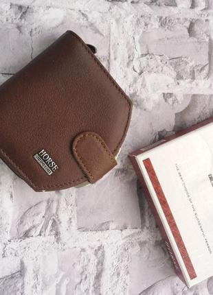 Маленький женский кожаный кошелек жіночий шкіряний гаманець