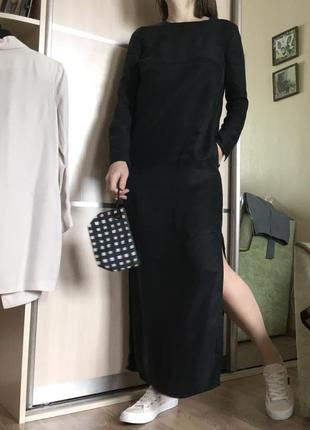 Чёрное макси платье tom wood