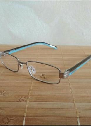 Металлическая узкая прямоугольная оправа под линзы, очки g.ferre ff27402