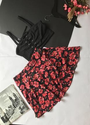 Яркая юбка с маками в цветочный принт от atm. р-р м